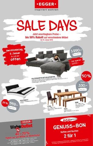 2 sale days bis am 16 januar profitieren m bel egger by m bel egger issuu. Black Bedroom Furniture Sets. Home Design Ideas