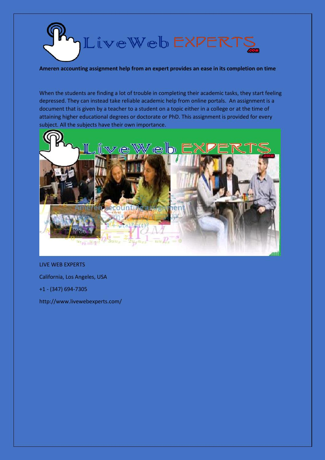 Ameren accounting assignment - blogger.com