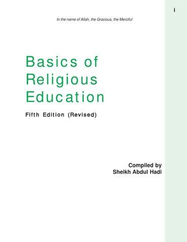 Basics of Religious Education by Atfal Academy - issuu