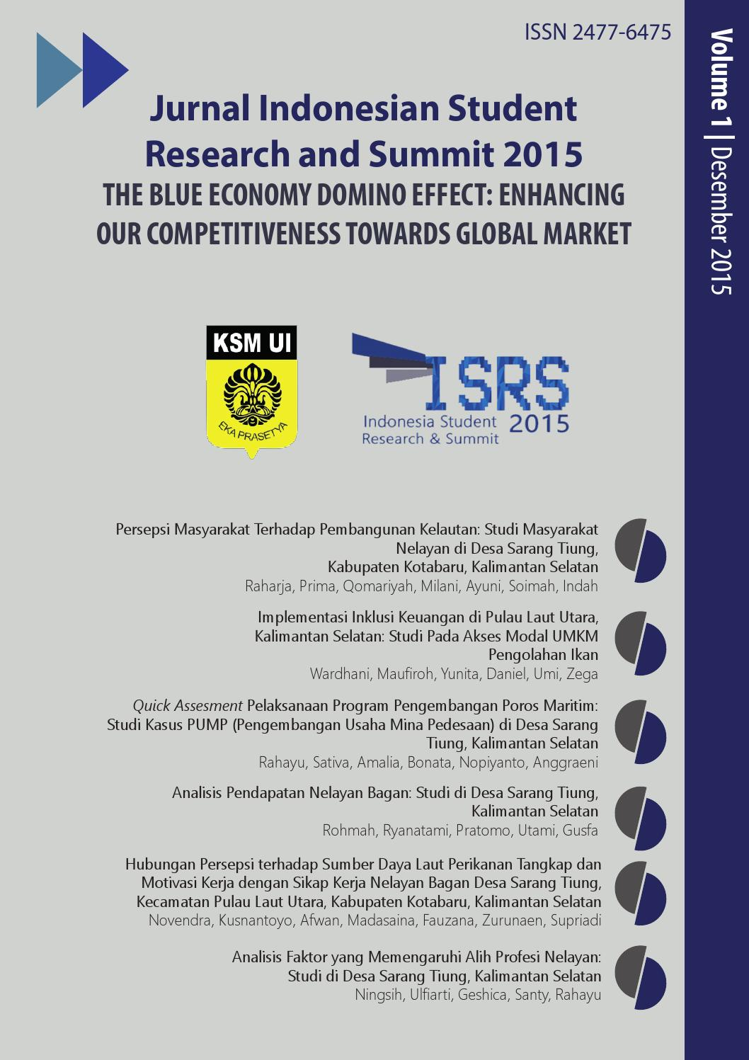 Jurnal Indonesian Student Research Summit Ksm Eka Prasetya By Produk Ukm Bumn Earring Mas Putih Mutiara Laut Ui Issuu