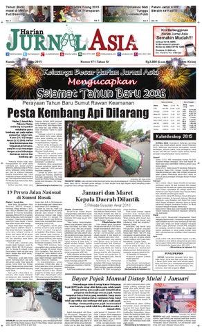 Harian Jurnal Asia Edisi Kamis, 31 Desember 2015