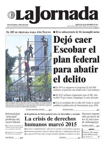9e7d6d39e La Jornada, 12/30/2015 by La Jornada: DEMOS Desarrollo de Medios SA ...