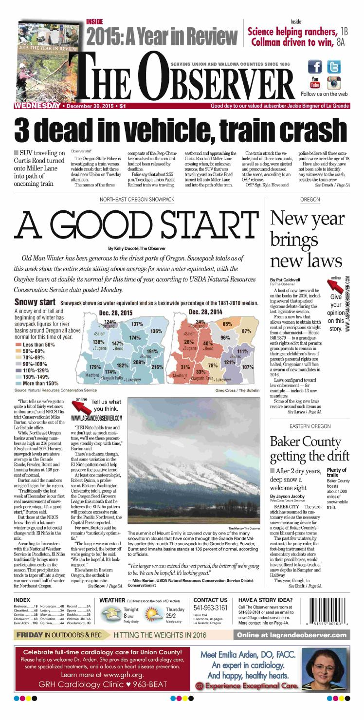 The Observer paper 12-30-15 by NorthEast Oregon News - issuu