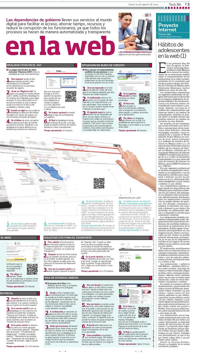 Portadas Tech Bit El Universal 2013 By Portafolio Abraham