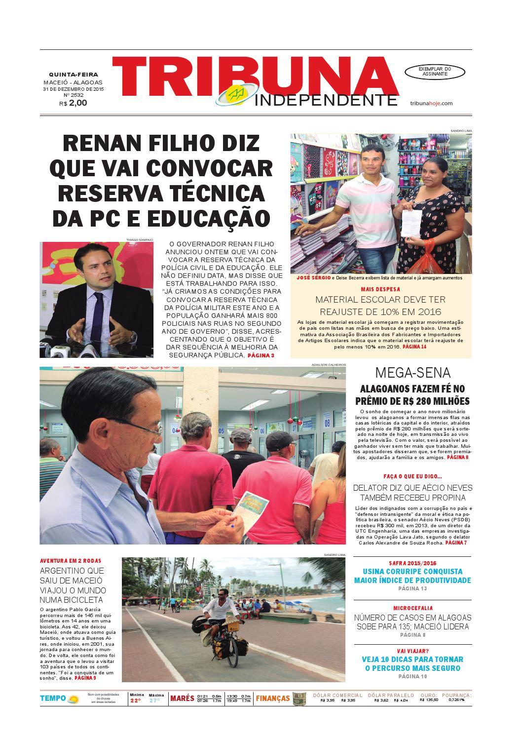 59ba3caeaf0 Edição número 2532 - 31 de dezembro de 2015 by Tribuna Hoje - issuu