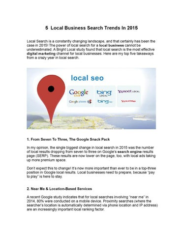 5 Local Business Search Trends In 2015 by Team Mango Media