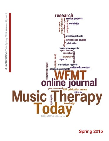 Music Therapy Today Vol 11 No 1 By World Federation Of