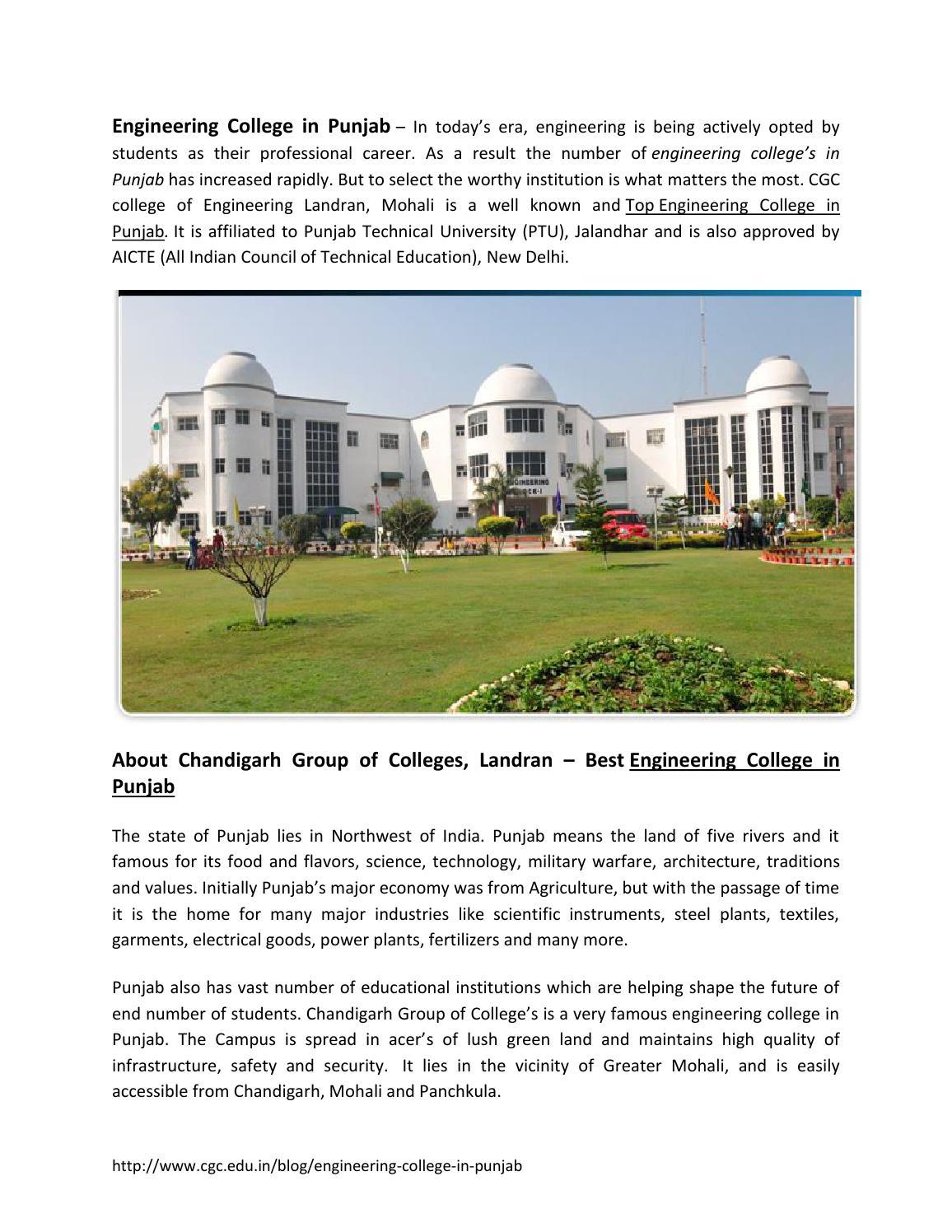 Engineering college in punjab by CGC Landran - issuu