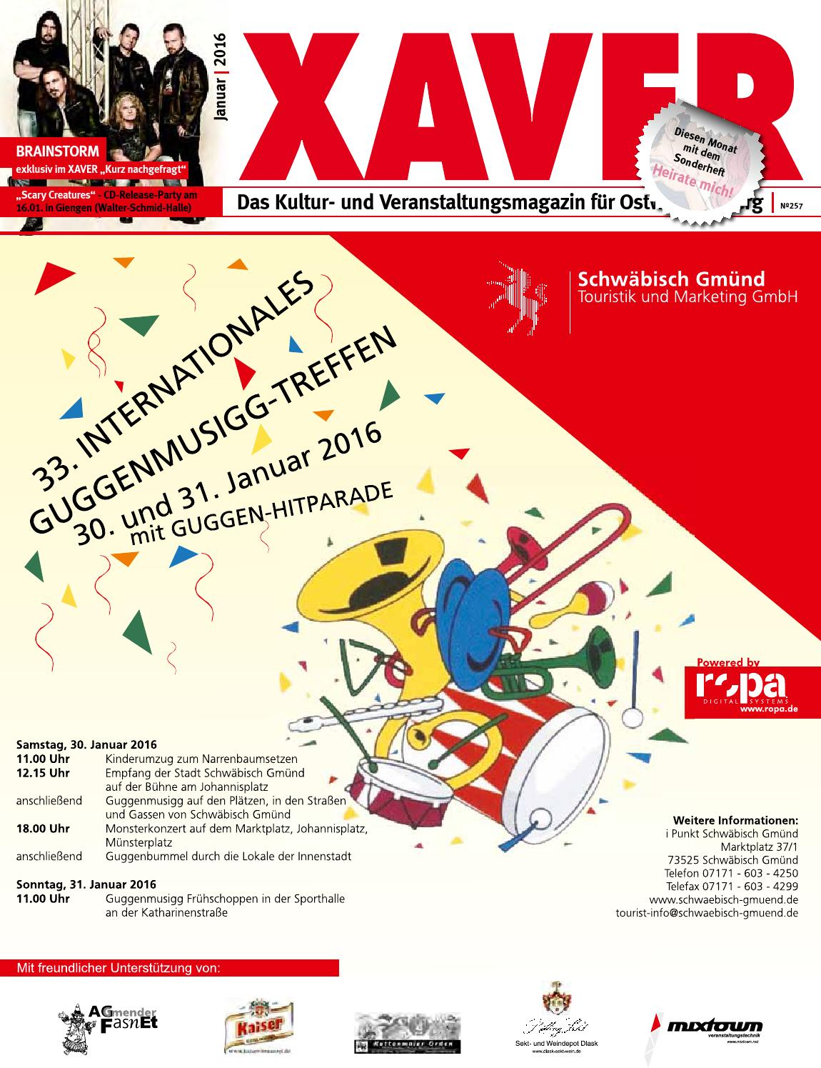 XAVER | 01/16 By Hariolf Erhardt   Issuu