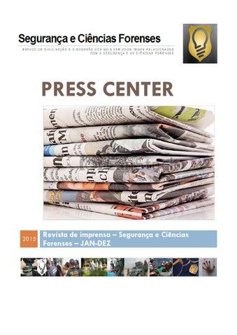 1c781752c65 Press center 2015 by Segurança e Ciências Forenses - issuu