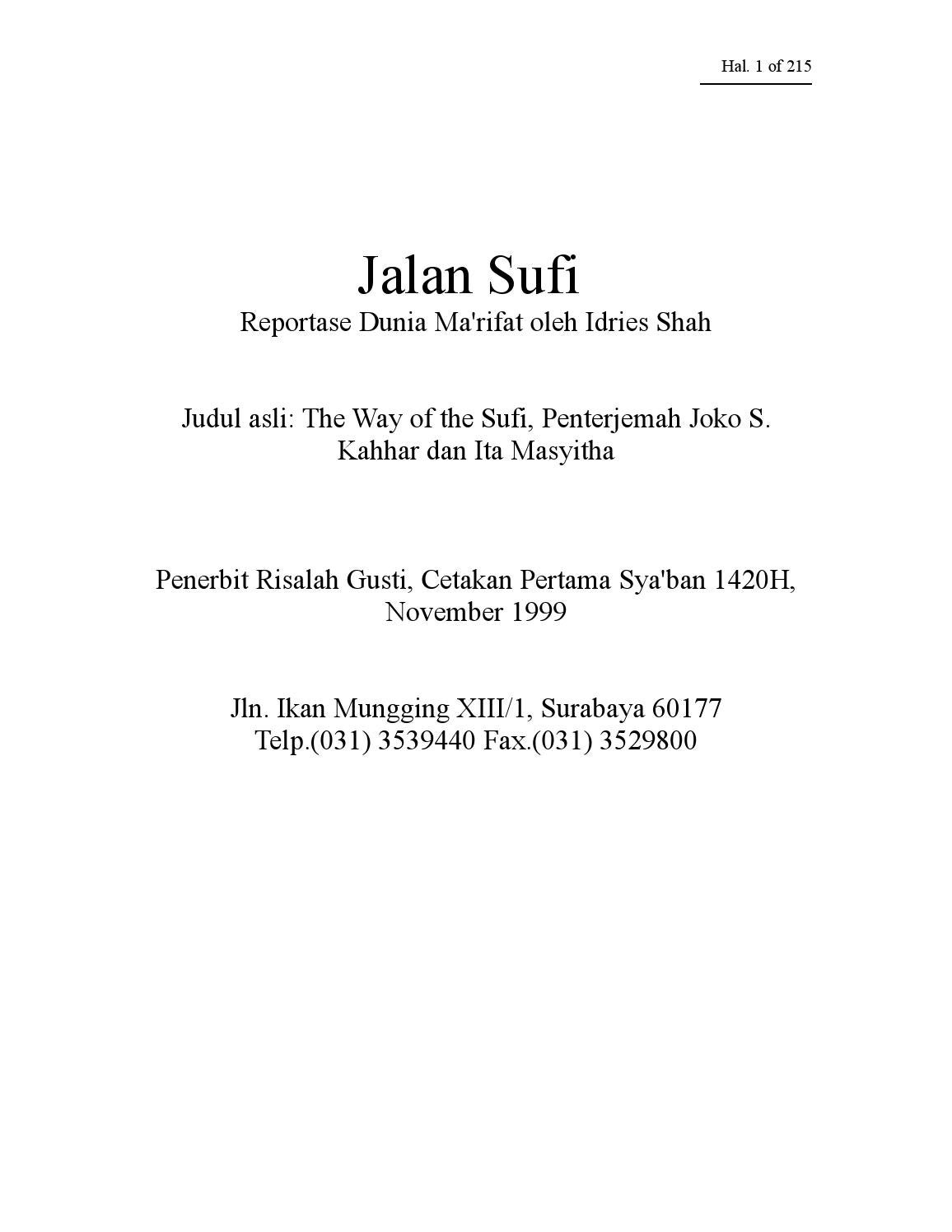 Jalan Sufi By Senirupa Issuu