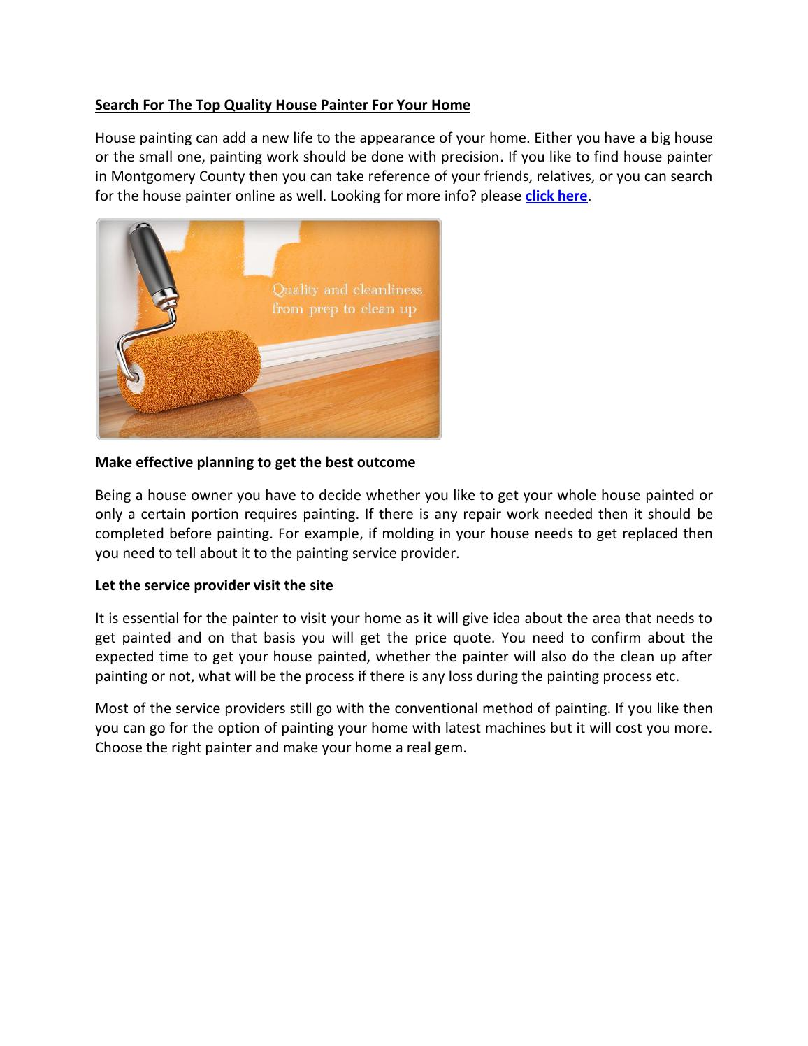 search for the top quality house painter for your home by cecil