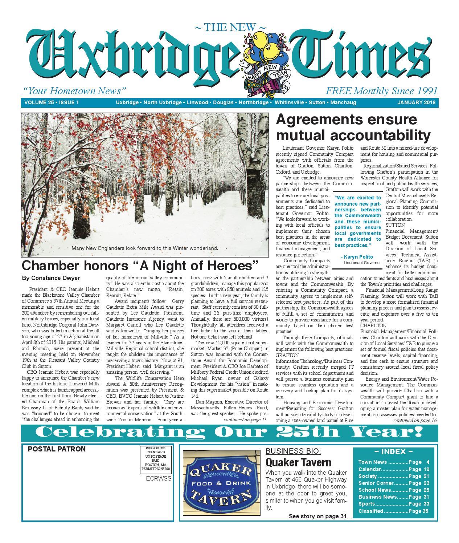 The new uxbridge times january 2016 by the new uxbridge times issuu fandeluxe Choice Image