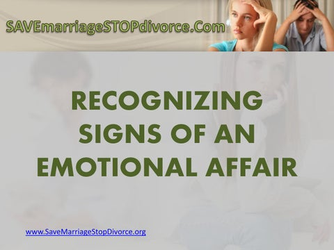 What is an emotional affairs? by Save Marriage Stop Divorce - issuu