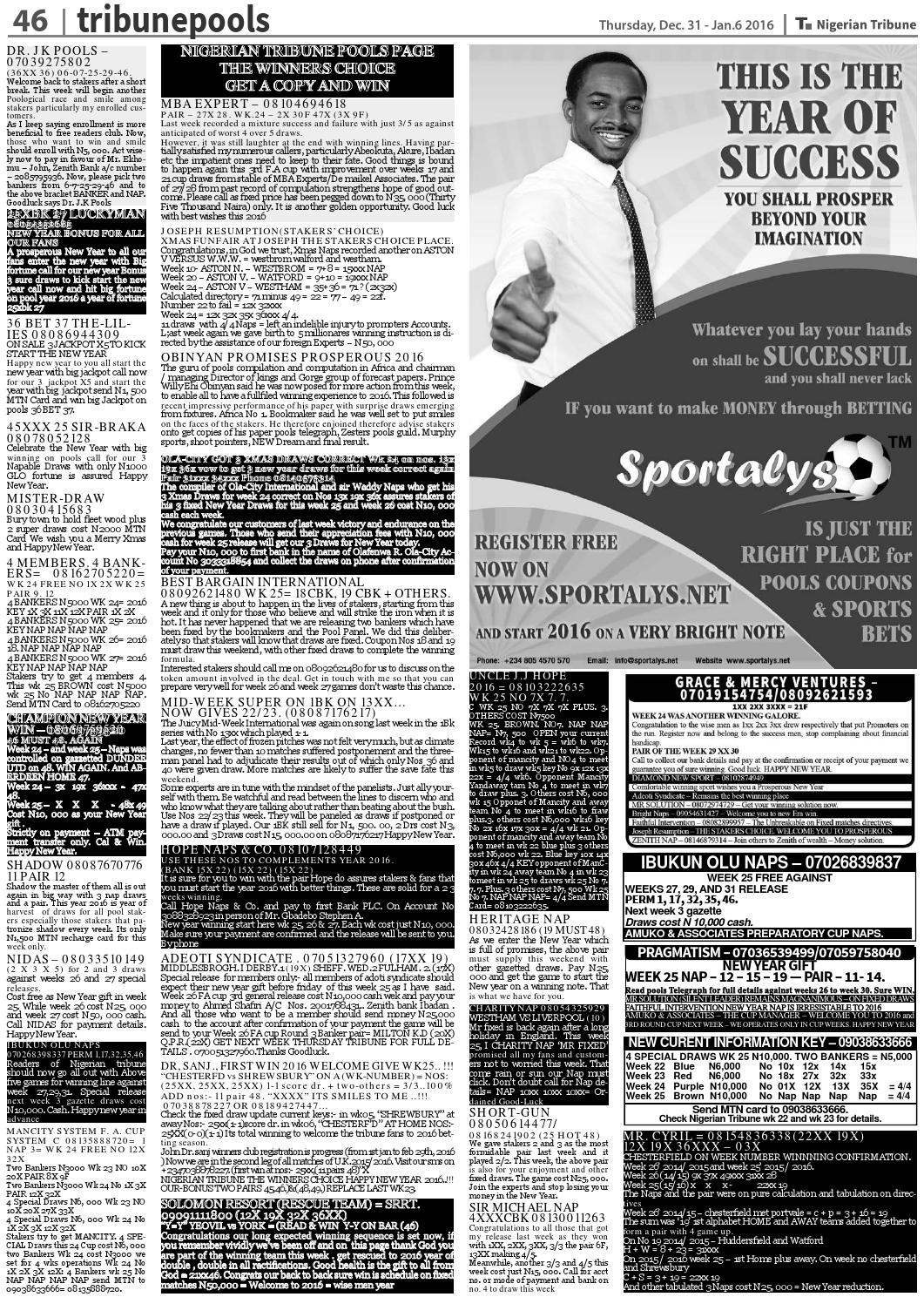 31st December 2015 by Nigerian Tribune - issuu