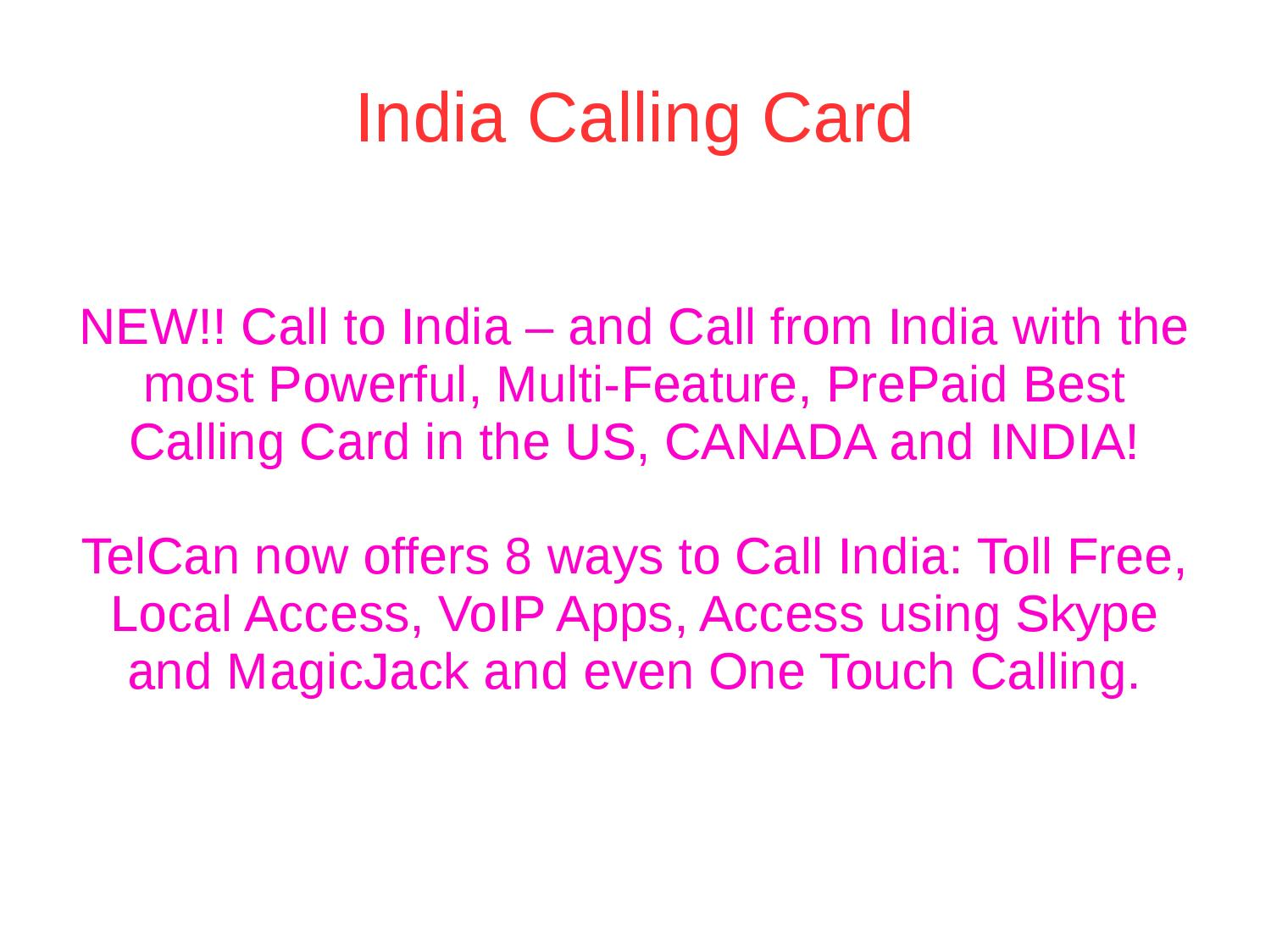 india calling cards by telcan pvt ltd issuu - India Calling Card