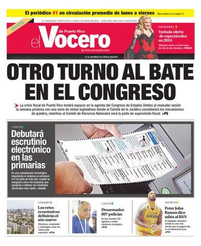 005f62034 Edición 4 de Enero 2016 by El Vocero de Puerto Rico - issuu