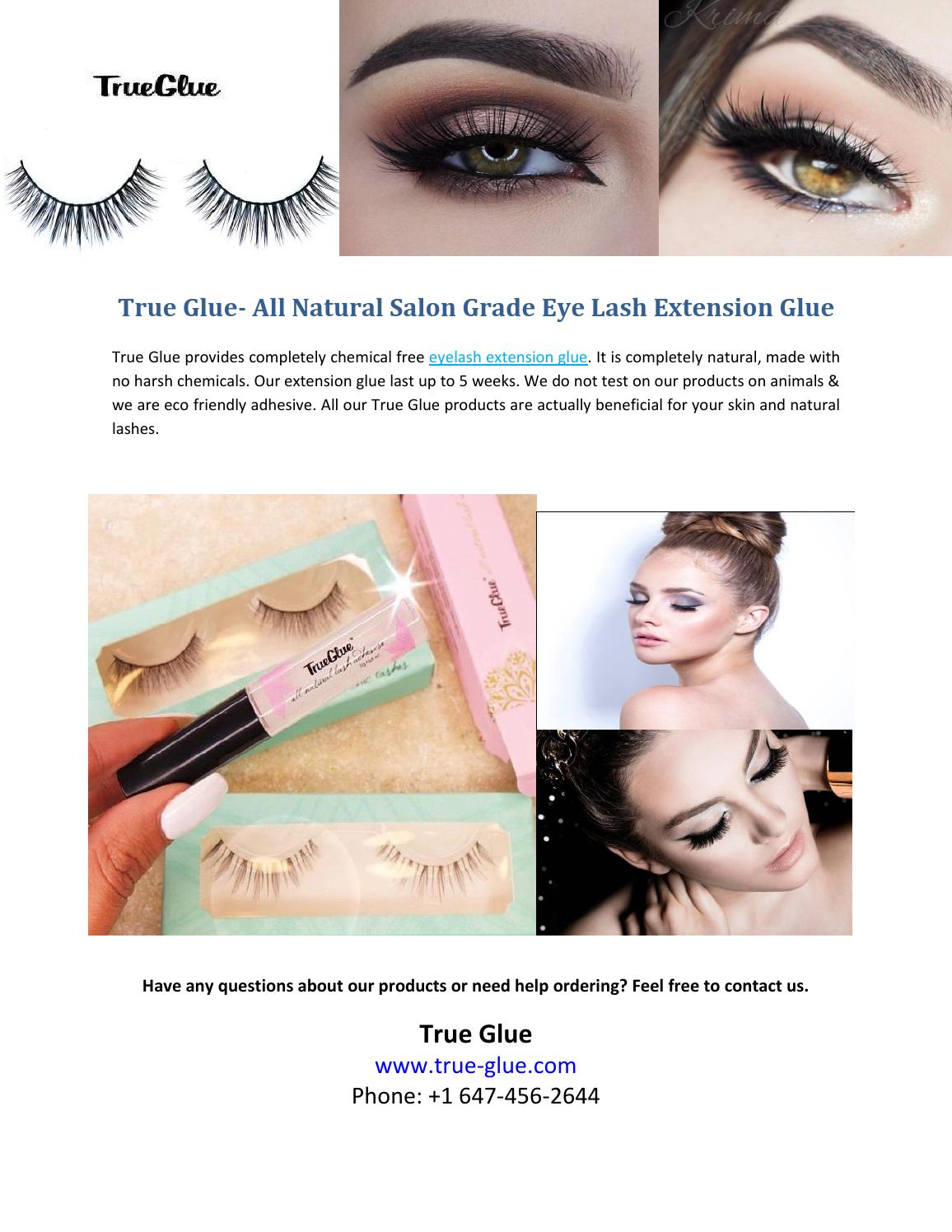 91a4881beca True Glue - All Natural Salon Grade Eye Lash Extension Glue by PCounselling  - issuu