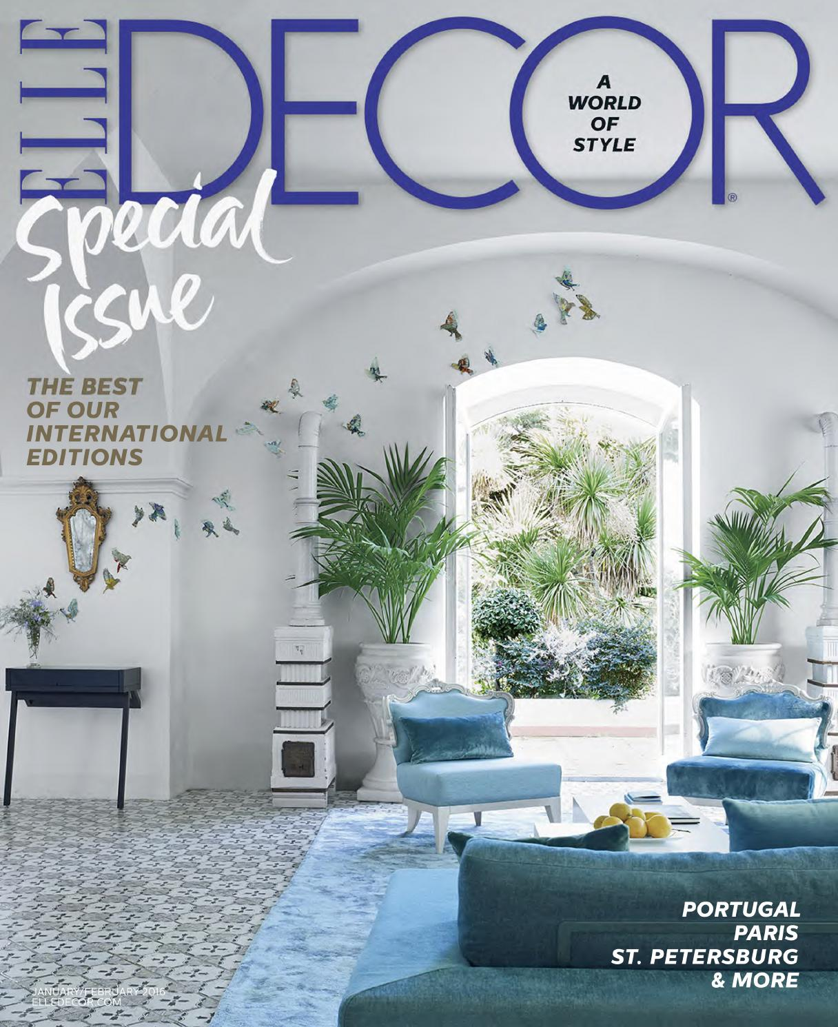 Elle Decor Usa January February 2016 By Francesco Della