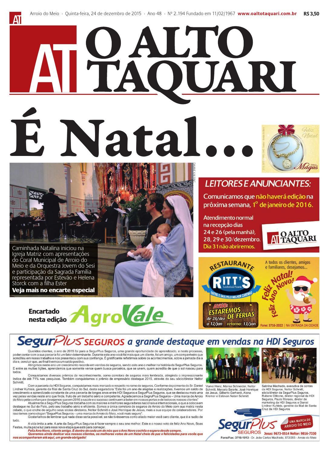 ae4abb4d7 Jornal O Alto Taquari - 24 de dezembro de 2015 by Jornal O Alto Taquari -  issuu