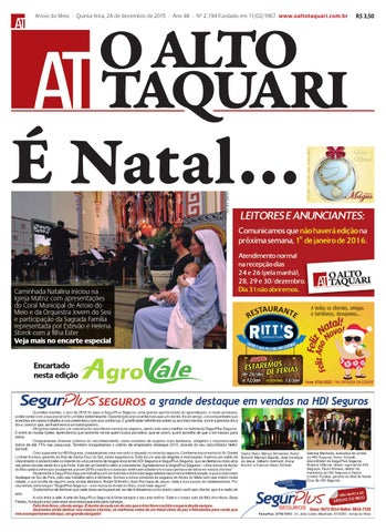 9101c67400 Jornal O Alto Taquari - 24 de dezembro de 2015 by Jornal O Alto ...