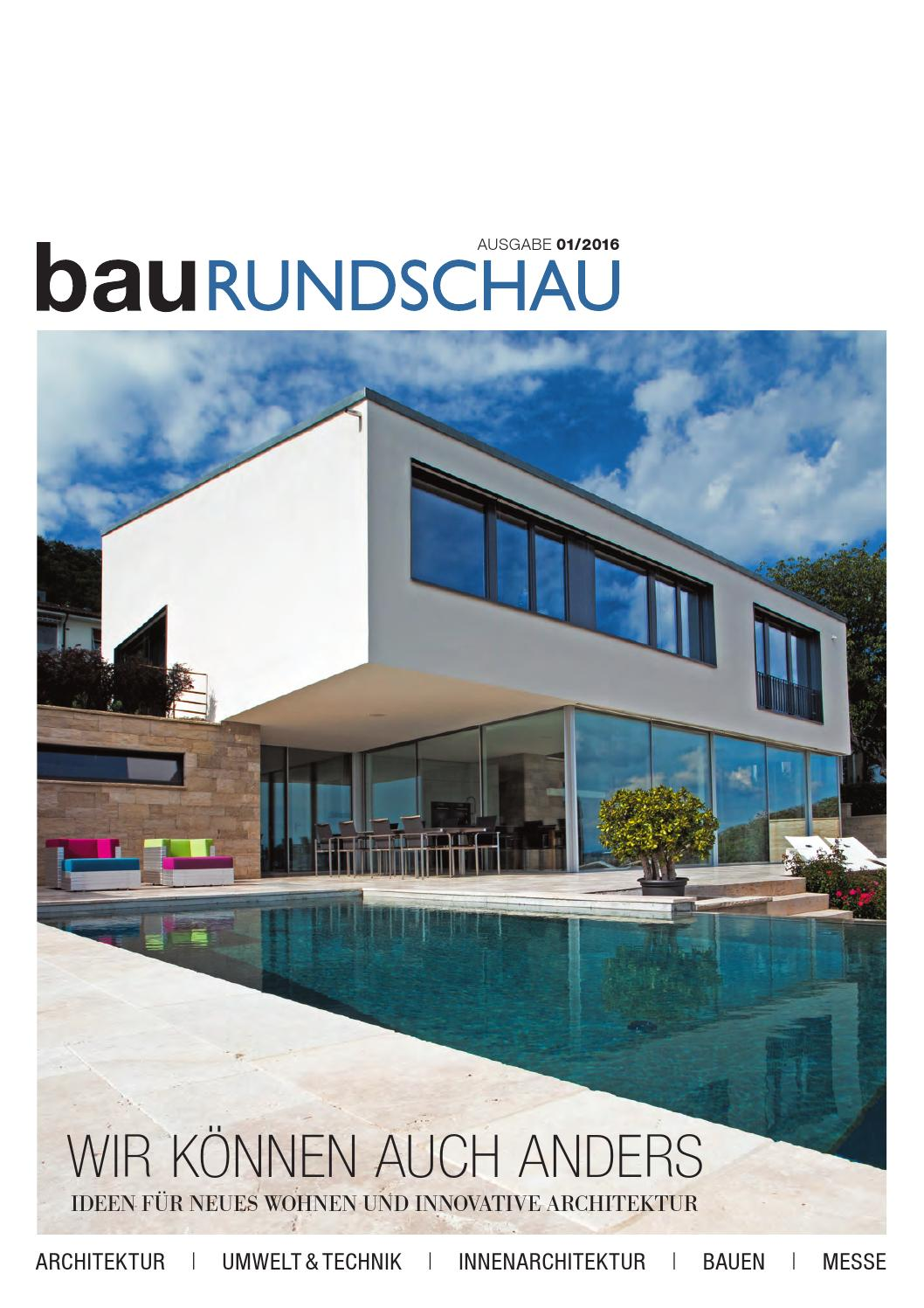 BauRUNDSCHAU 01 2016 By RundschauMEDIEN AG   Issuu
