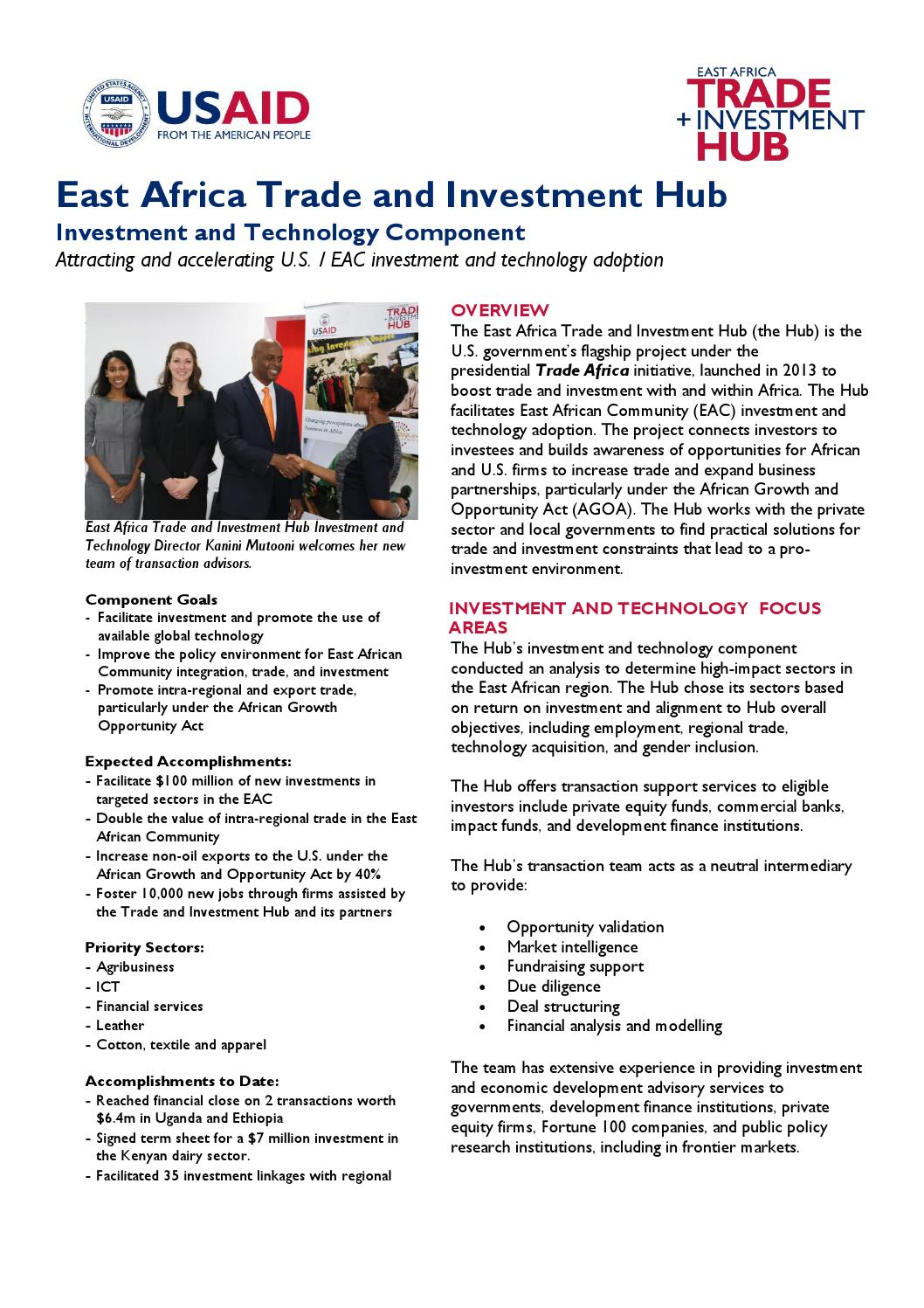 Investment fact sheet nov 2015 final by East Africa Trade