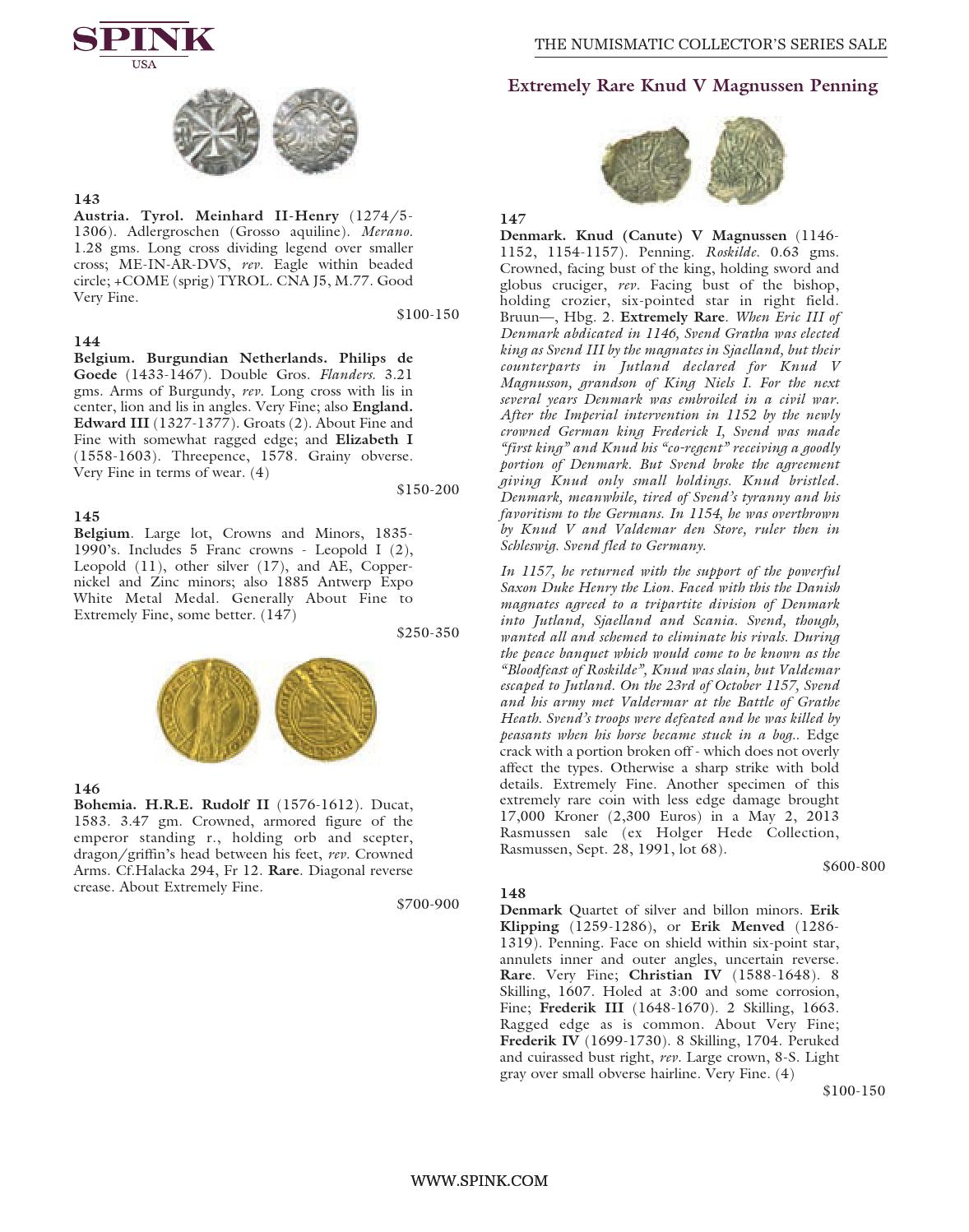 The Numismatic Collector's Series Sale - 323 by Spink and