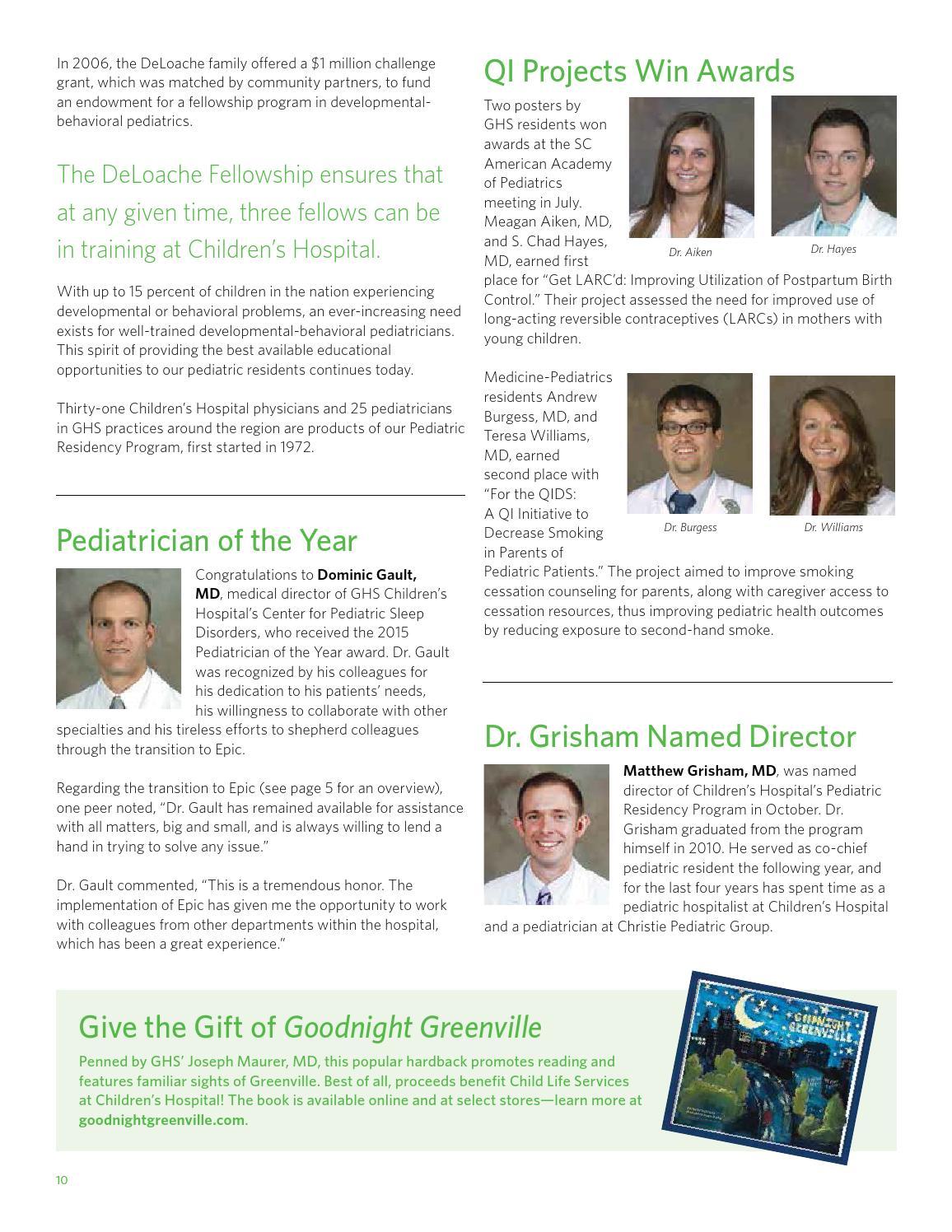 Greenville Health System Pediatric Focus fall 2015 fnl by