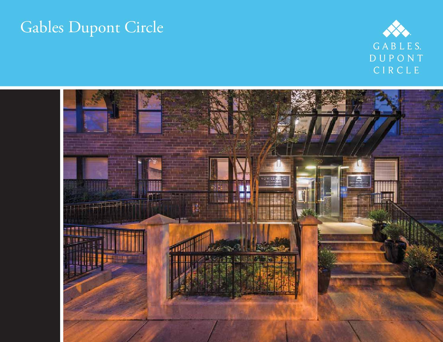 Gables Dupont Circle E Brochure By Gables Residential Issuu