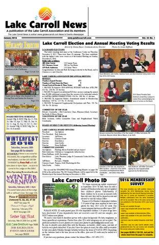 d257989ac55 Lake Carroll January 2016 by Lake Carrol News - issuu