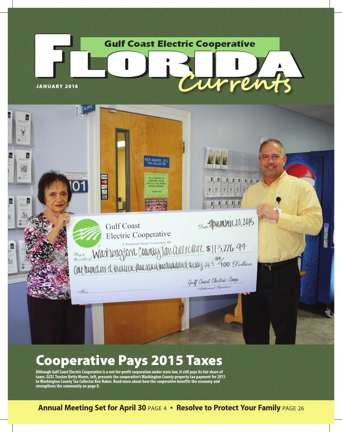 2016 January Gulf Coast Electric Cooperative Florida
