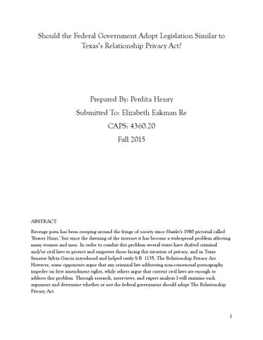 relationship privacy act texas