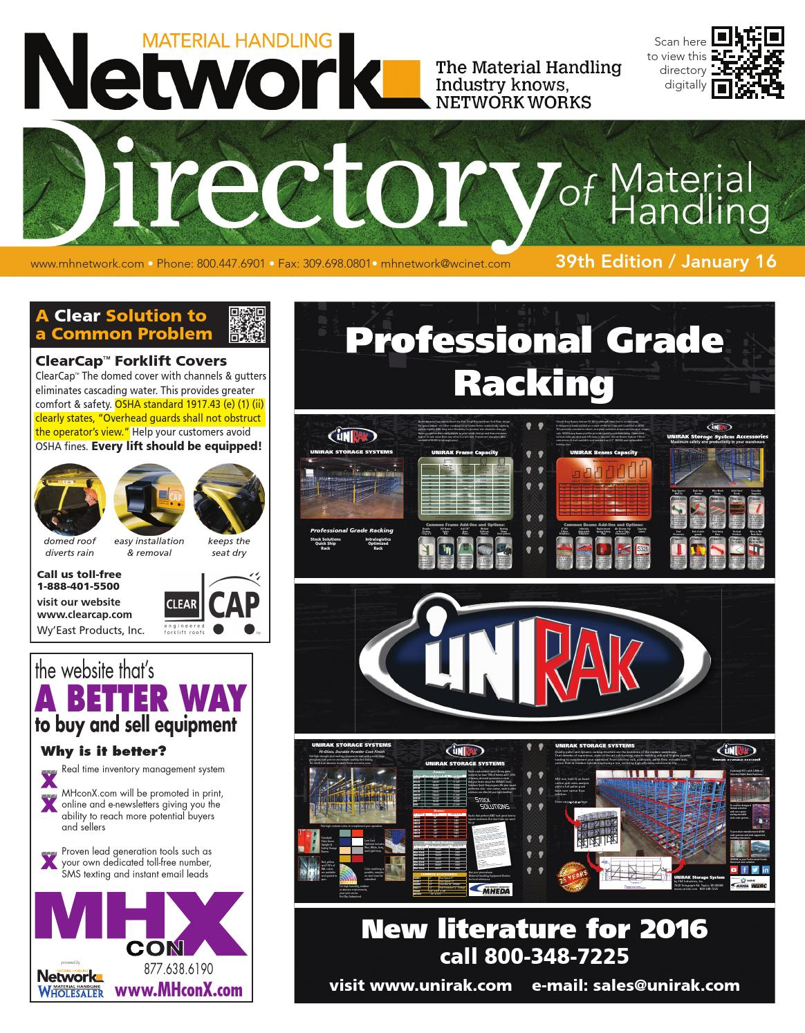January 2016 Network Directory by Material Handling Network - issuu