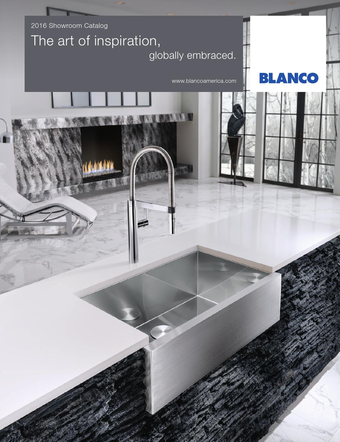 2016 blanco showroom catalog by blanco issuu for Blancoamerica com kitchen sinks