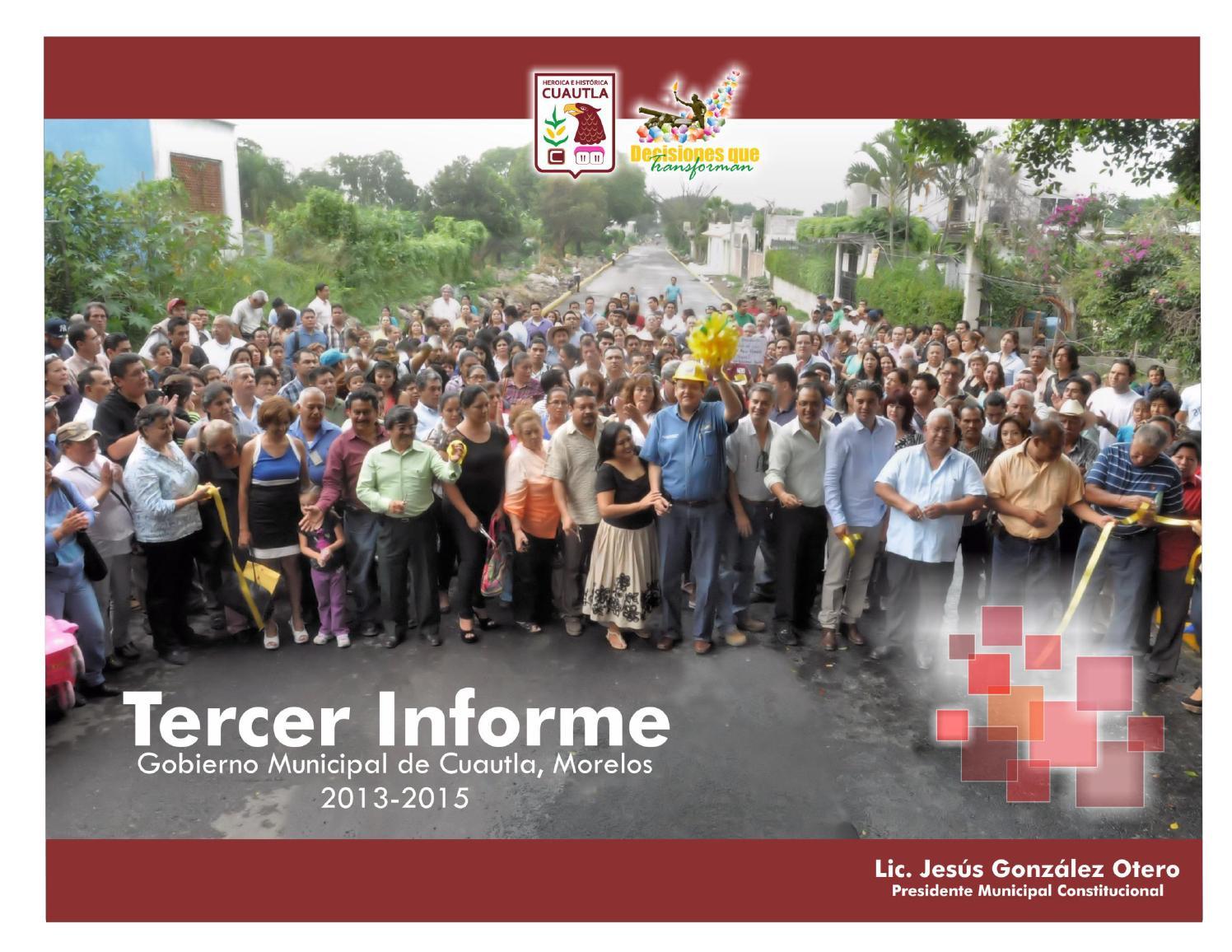 3er Informe de Gobierno Anexo estadístico 2013 2015 by Gobierno Municipal  de Cuautla - issuu 09cba47e6fe