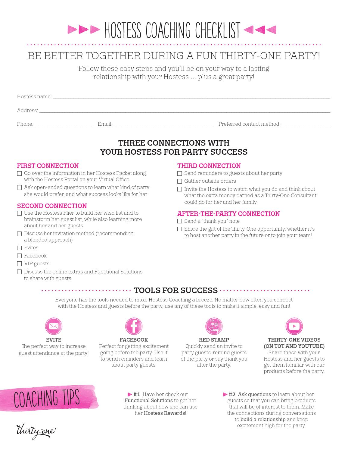 Spring hostess coaching checklist us by Nicole Landen - issuu