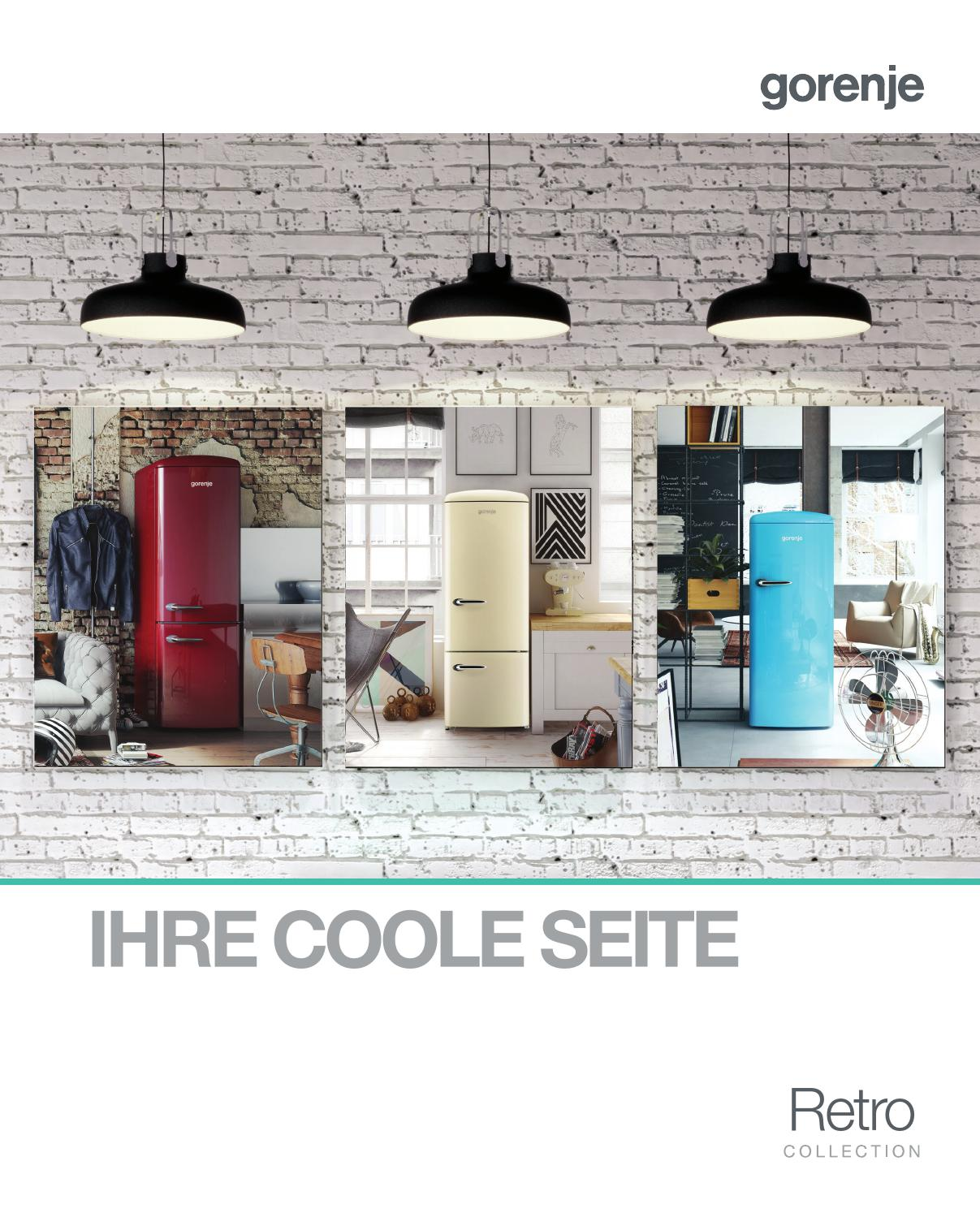 brosch re retro collection by gorenje d d issuu. Black Bedroom Furniture Sets. Home Design Ideas