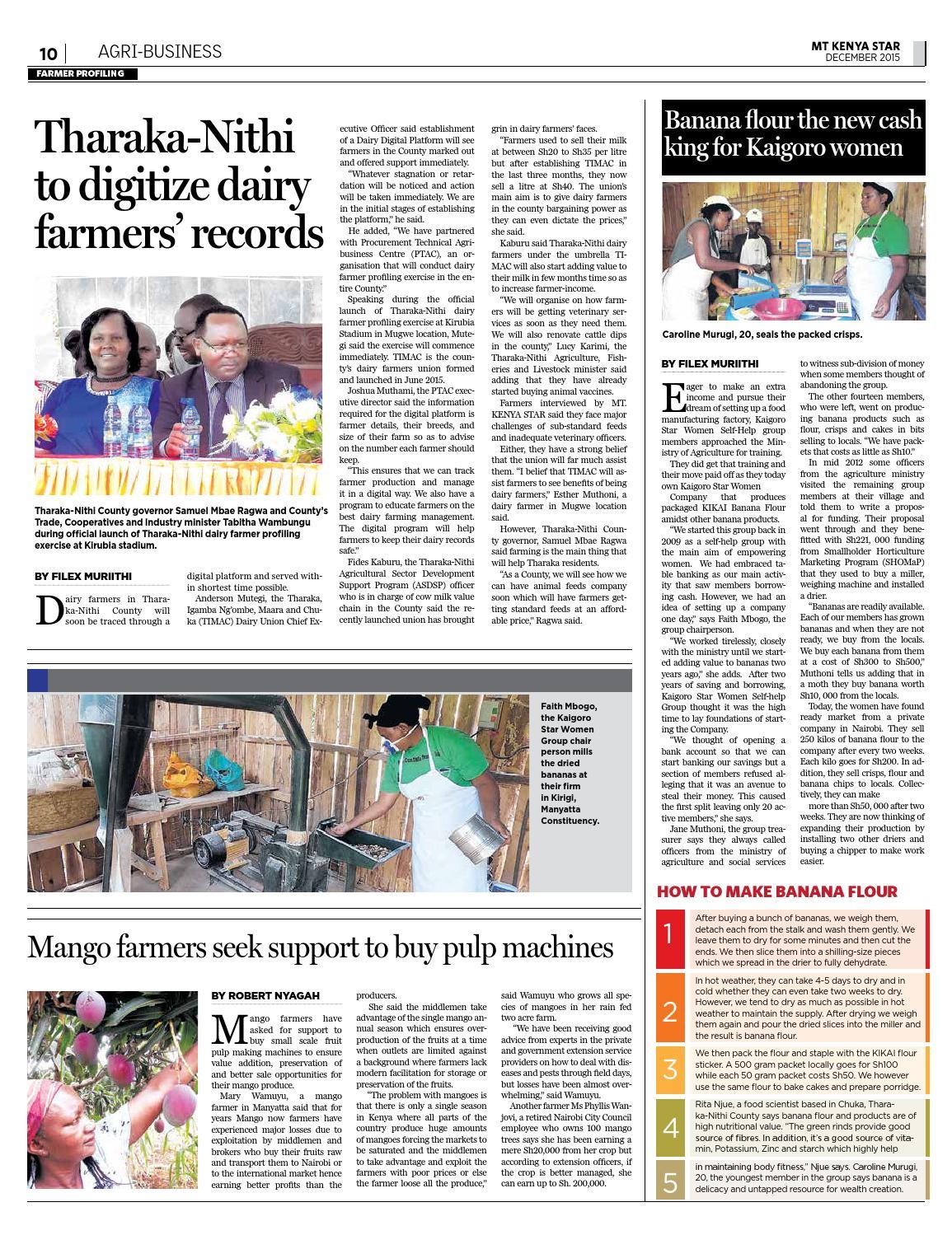 MT  KENYA STAR ISSUE 16 December 2015 by MT  KENYA STAR