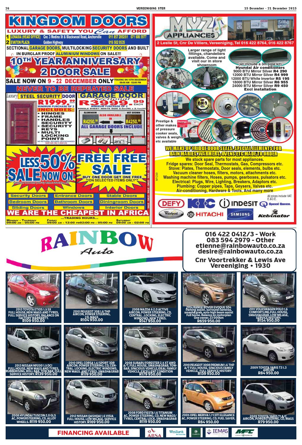 Vereeniging Ster 15 21 December 2015 By Mooivaal Media Issuu Ford Fiesta Tow Bars