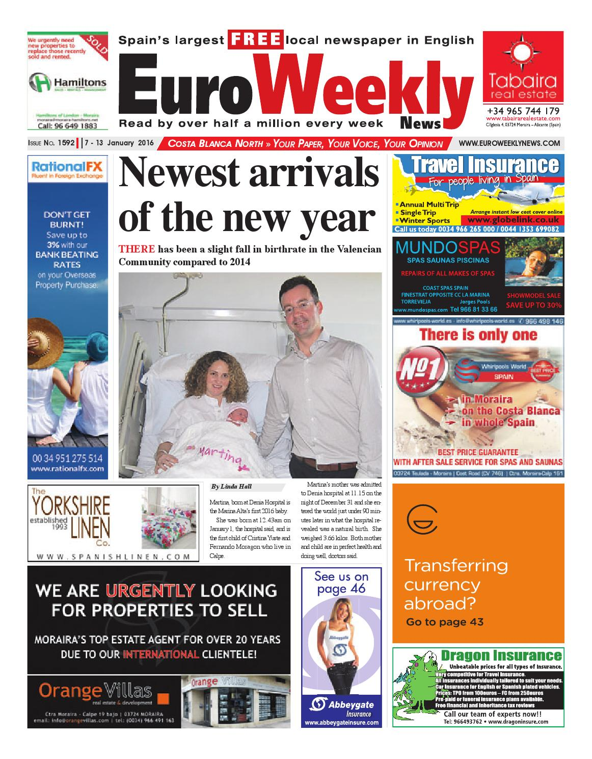 de2f1d60e Euro Weekly News - Costa Blanca North 7 - 13 January 2016 Issue 1592 ...