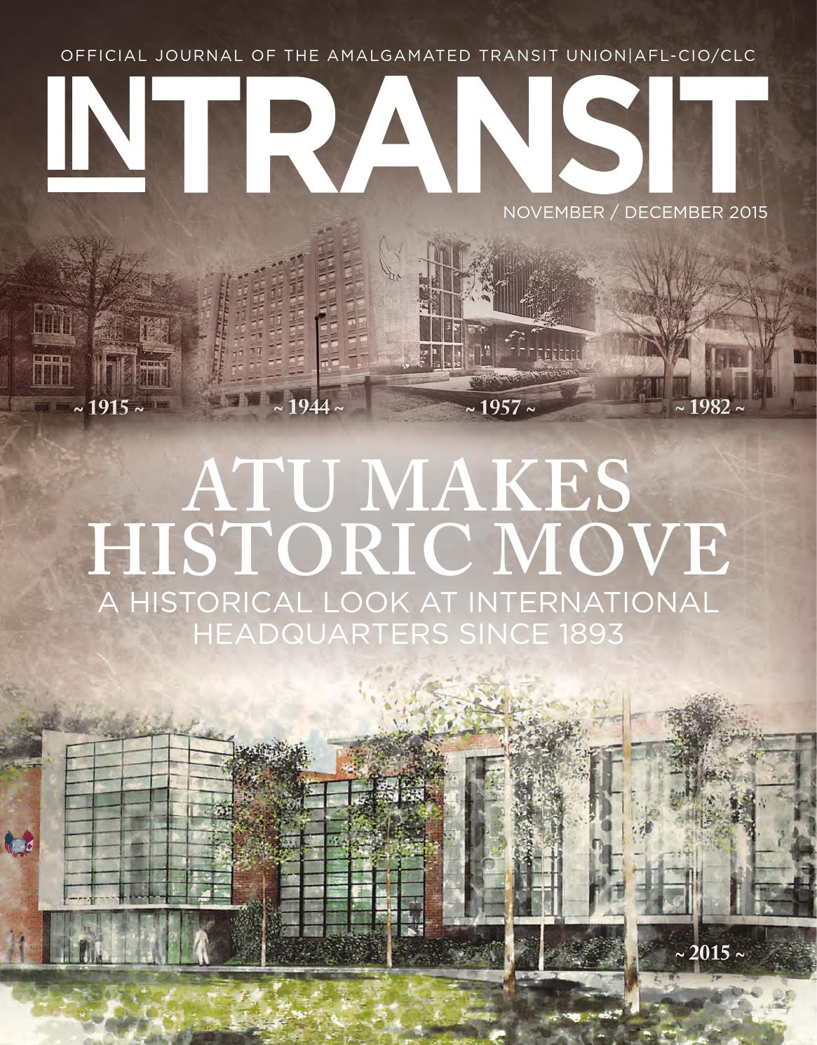 In Transit November December 2015 By Amalgamated Transit Union  # Muebles Medicos Maya