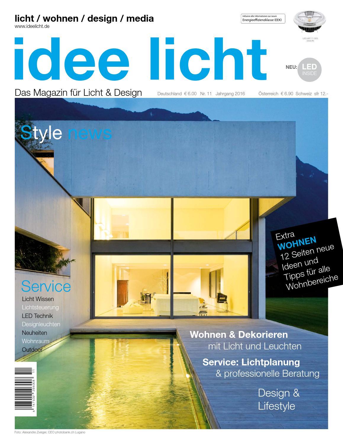 Das Magazin für Licht & Design - idee licht 2016 by LICHT MARKETING ...