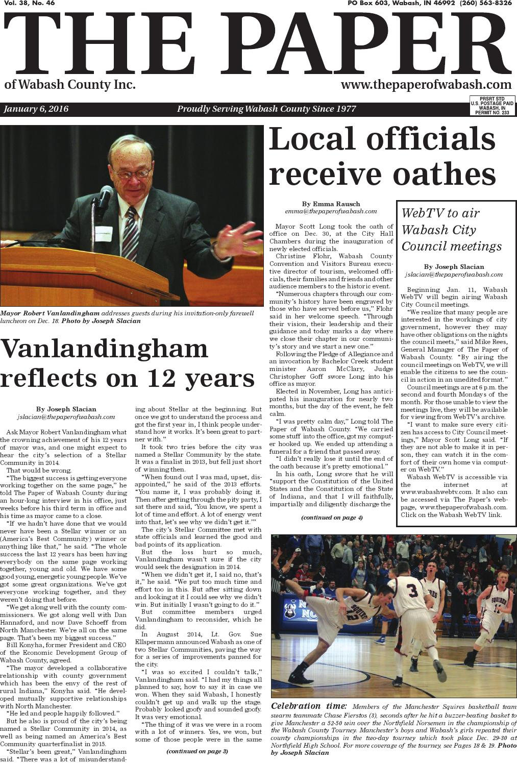 The Paper of Wabash County - Jan. 6, 2016, issue by The Paper of ...