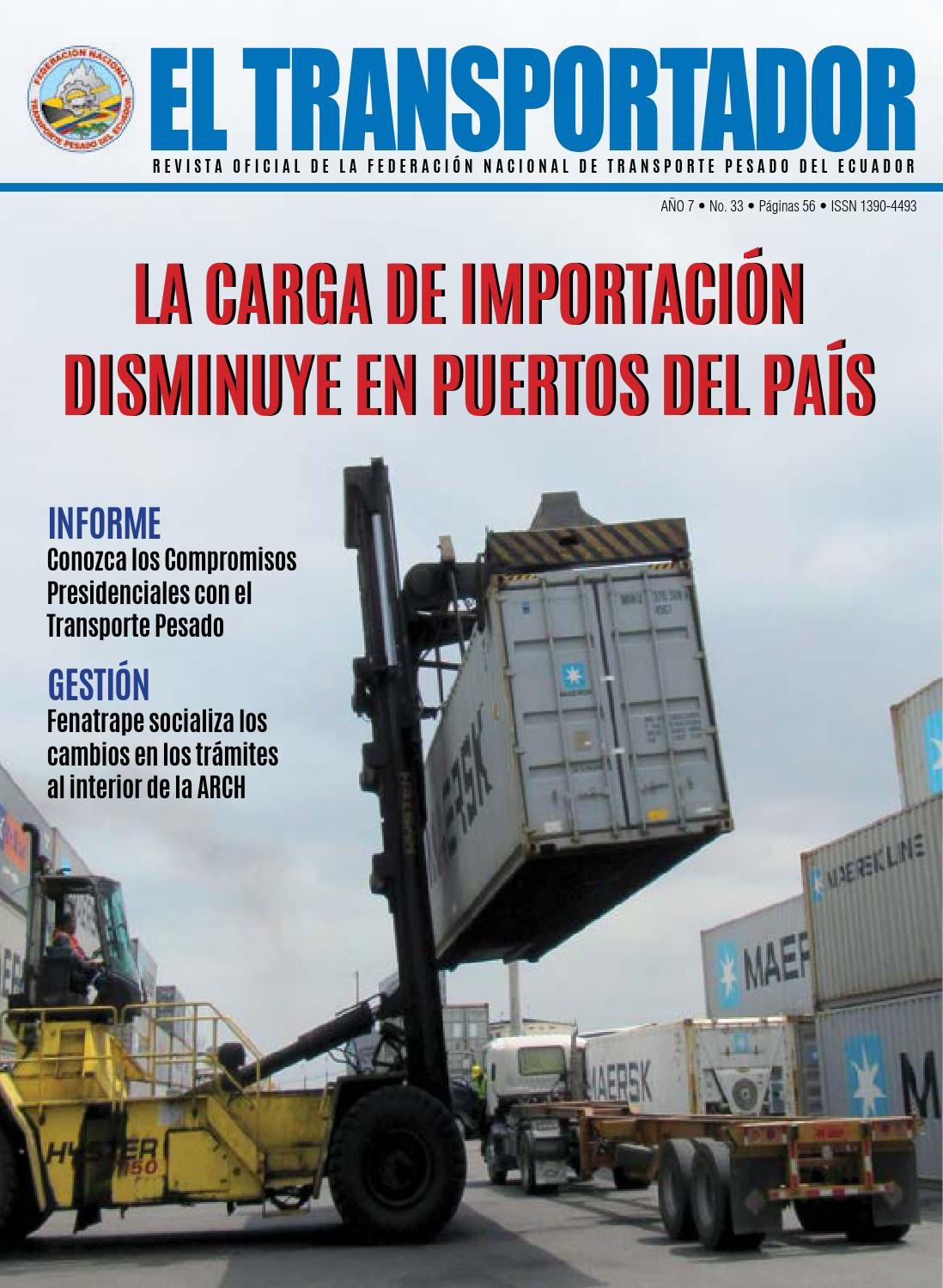 El Transportador Ed. 33 by Fenatrape_Diseño - issuu