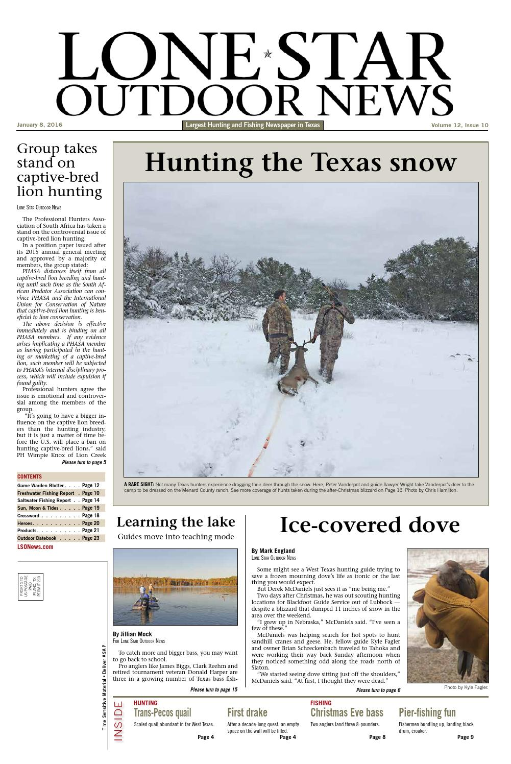 January 8, 2016 - Lone Star Outdoor News