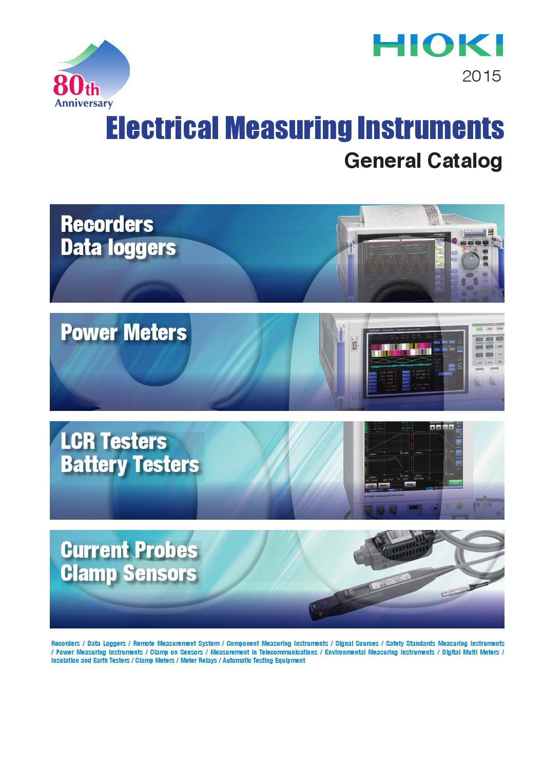 Hioki 2015 General Catalog Of Electrical Measuring Instruments By Circuit Breaker Tester Model 3280 Leakage Ee Corporation Test And Measurement Issuu