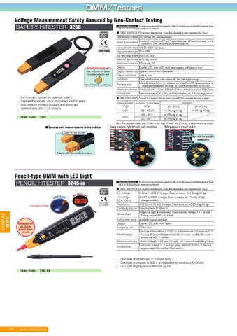 Hioki 2015 General Catalog of Electrical Measuring Instruments by