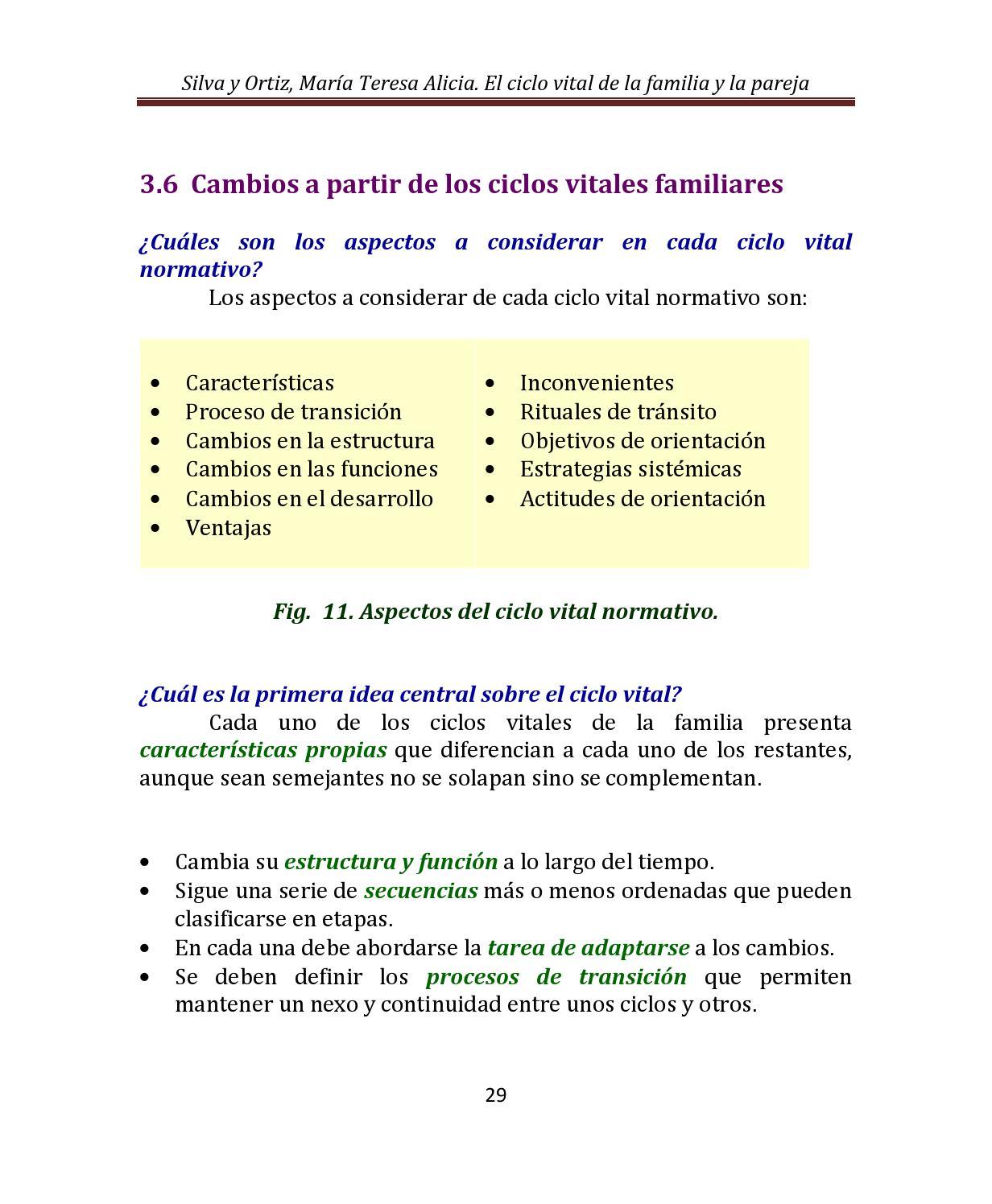 3 Los Ciclos Vitales De La Familia Y La Pareja By Tessie