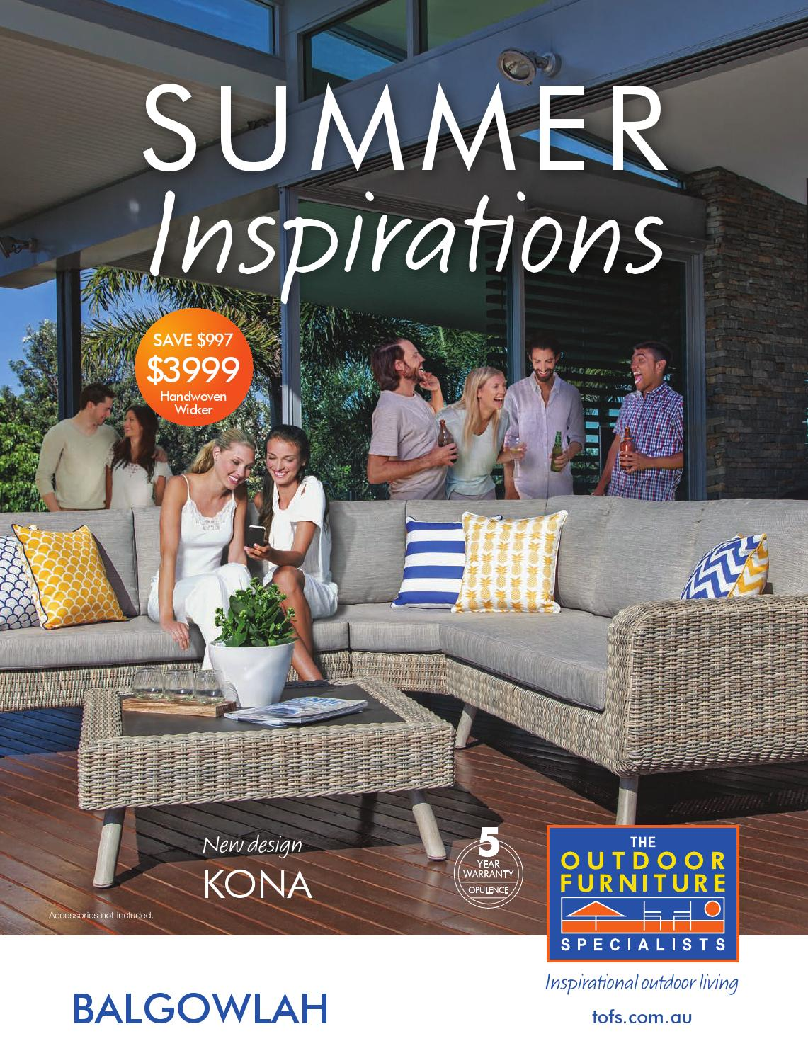 The outdoor furniture specialists balgowlah summer inspirations catalogue 2016